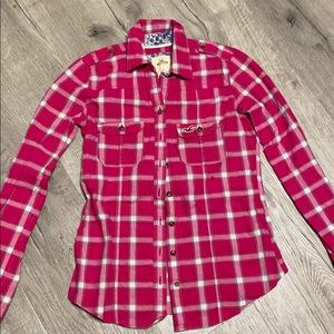 Hollister plaid button up